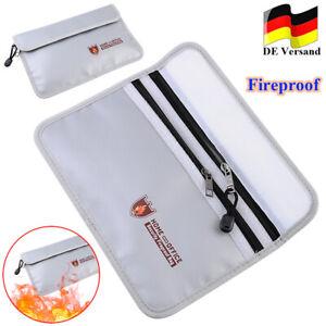 Feuersichere feuerfest Dokumententasche Geldkassette Feuerfeste Wasserdicht DHL