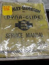 Genuine HARLEY DAVIDSON 91-92 DYNA OFFCIAL SERIVCE MANUAL 99481-92