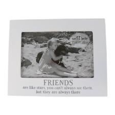 Friends Are Like Stars Photo Frame White Cream Modern Home Love Birthday Gift