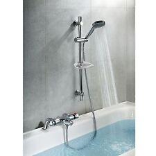 Thermostatic Bathroom Bath Shower Valve Mixer Tap With Slider Rail Kit & Handset