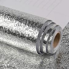 Kitchen Backsplash Wallpaper Peel and Stick Aluminum Foil Contact Paper Self