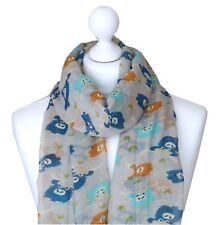 Highland Cow Scarf Womens Scottish Cattle Ladies Hairy Coo Cows Moo Lovers Wrap
