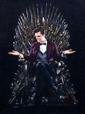 "Superbe rare original Zen O'CONOR ""médecin qui"" trône de fer série peinture à l'huile"