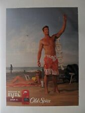 2009 Print Ad Old Spice Deodorant ~ Residue is Evil Idiot at the Beach