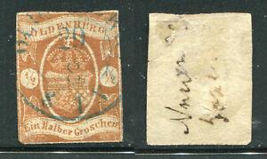 OLDENBURG 1860 -1/2 gr Brun-Rouge n°11  Cote 750,00€