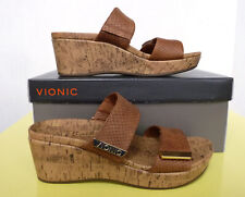 Vionic Womens Atlatic Pepper Tan Snake Sandals Size 7