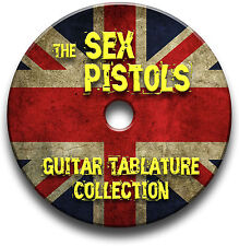 THE SEX PISTOLS PUNK ROCK GUITAR TAB TABLATURE SONG BOOK SOFTWARE CD