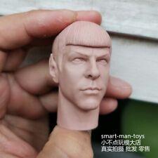 Free Shipping 1/6 scale Star Trek Spock Head Sculpt Unpainted fit 12'' Figure