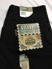Vtg Gitano Jeans Womens Size 16 Tall Black Relaxed Fit Tapered Leg NWT 34x33