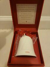 Hallmark Keepsake Christmas Ornament 2008 Porcelain Dated Bell in Box