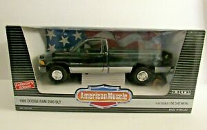 American Muscle Black 1995 Dodge Ram 2500 SLT Truck 1:18 MIP #7334
