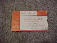 1986 Los Angeles Lakers v Dallas Mavericks Playoff Semifinals Basketball Ticket
