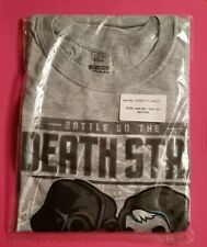 Smuggler's Bounty Death Star T-Shirt 2X Sport Grey Vader vs Kenobi
