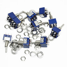10pcs 6-Pin DPDT ON-ON Mini Toggle Switch 6A 125VAC Mini Switches For Arduino