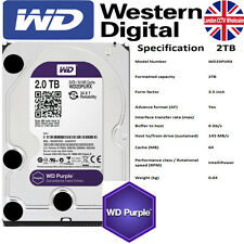 "WD Purple sorveglianza 2 TB SATA III 3.5 ""Hard disk-INTELLIPOWER 24x7 utilizzare 64 MB"