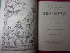 1864 MANUEL PRATIQUE DES JARDINS D'ENFANTS Frédéric Froebel 78 planches + musiqu