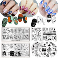 BORN PRETTY Christmas Nail Stamping Plates Nail Stamp Stencil Template Halloween