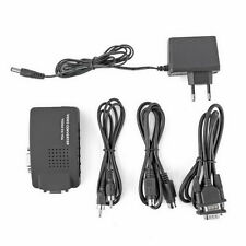 PC Laptop Composite AV/S Video To VGA TV Converter Monitor Adapter Switch Box Y6