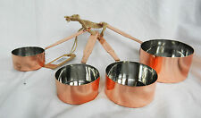 Set of Four Copper Measuring Cups - BNIB