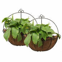 2 Pcs Metal Wall Hanging Planter Basket Great for Indoor or Outdoor Plants