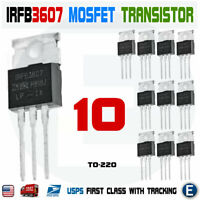 10PCS IRFB3607PBF IRFB3607 Mosfet N-Channel 75V 80A TO-220 Transistor IRF3607