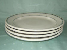 "VINTAGE LOT of 4 HOMER LAUGHLIN 9"" GREEN STRIPE DINNER PLATES RESTAURANT WARE"