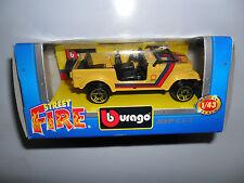 BURAGO STREET FIRE JEEP CJ-7 GOLDEN HAWK PIRELLI OFFROADER BBURAGO 1/43 CJ 7