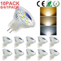 4/6/10 PACK LED MR11 Light Bulbs 3W/5W AC/DC12V-24V 30W-50W Halogen GU4 Bi-Pin