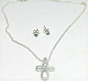 Avon Cross Necklace & Earring Gift Set