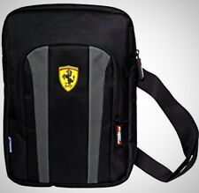 Ferrari Tablet Bag Black Zipper Pocket School Travelling Hiking Rucksack Grey