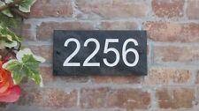Deep Engraved Honed Slate House Door Sign Gate Number Plaque. Size 10cm * 20cm