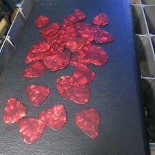 Three Dozen thin Guitar Picks- Tortoise Red- lot pt36-1