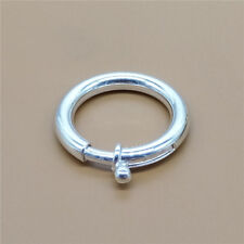 Sterling Silver Plain Spring Ring Clasp 925 Silver 23mm Diameter
