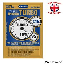 Fast and Pure Fermentation 24h TURBO YEAST High Alcohol Spirit Vodka 180 gr 25L