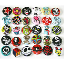 Mixed Alt. Skull Designs x 30 BADGES Buttons Pins Wholesale Lot 25mm One Inch 1""