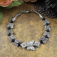 HOT Free shipping New Tibet silver multicolor jade turquoise bead bracelet S46