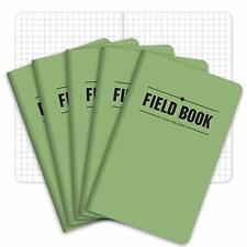 Field Notebookpocket Journal 35x55 Green Memo Book Pack Of 5 Graph