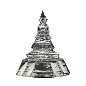 Antique Thai Hammered Silver Buddha Figure