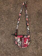 Vera Bradley Mocha Rouge Crossbody Wallet Light Pink, White, Brown Free Shipping