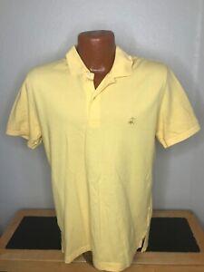 Men's Brooks Brothers S/S Polo/Golf Shirt Size Medium (M) Yellow - Slim Fit