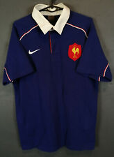 RARE VINTAGE NIKE MENS RUGBY UNION FRANCE 2002 HOME SHIRT JERSEY MAILLOT SIZE M