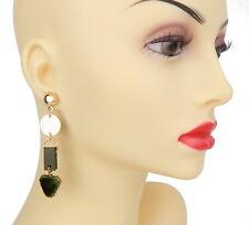 Velvet Trend Studs New Season Ella Jonte Long Earrings Gold Green
