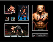 New Triple H Signed Limited Edition Memorabilia Framed