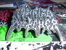 Maniac Butcher Pin Badge Logo Black Metal Judas Iscariot Moonblood