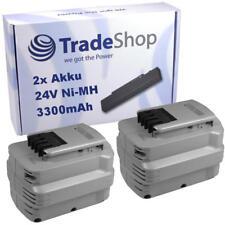 Batería 2x para DeWalt 24v 3300mah ni-mh sustituye a de0240-xj de0243-xj dw0242-xrp