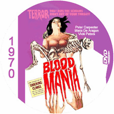 "Blood Mania  (1970) Classic Horror and Sci-Fi CULT ""B-Movie"" DVD"