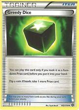 POKEMON XY STEAM SIEGE TRAINER CARD - GREEDY DICE 102/114