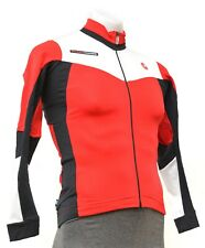 Castelli Rosso Corsa Long Sleeve Thermal Jersey Men SMALL Red Road Bike Gravel