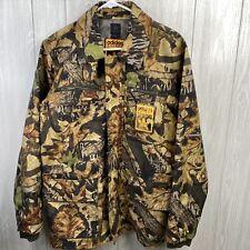 Adidas Mens Size Small Heavy Nylon Jacket  Mossy Oak Camouflaged Coat Full Zip