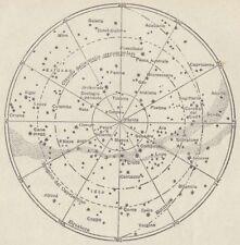 C2757 Emisfero celeste australe - Carta geografica d'epoca - 1936 vintage map